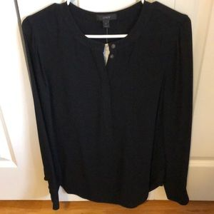 NWT black J. Crew tunic blouse